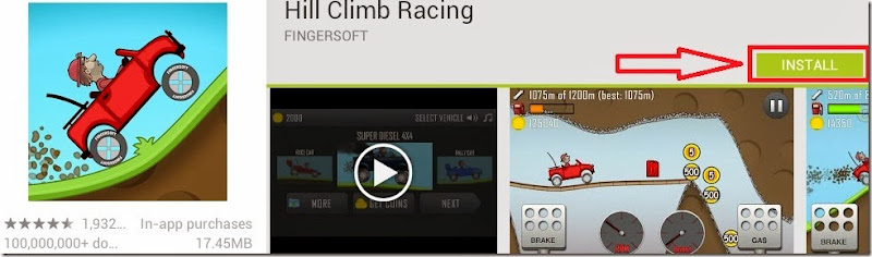 hill climb racing installation