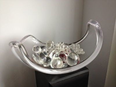 Lucite Fruit Bowl