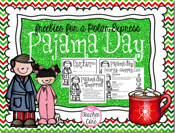 Freebie for the Best Pajama Day Ever from Teacher to the Core
