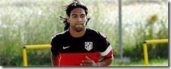 Falcao entrenando con el Atletico de Madrid