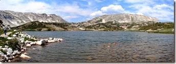 pan 15 Lewis Lake edge of hike