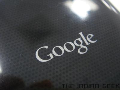 Google Nexus S - Google logo