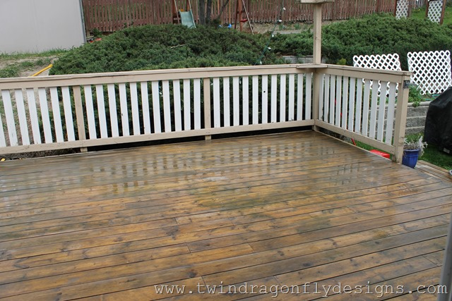 this great video that describes the steps in how to paint your deck