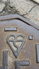 Check out the heart I spotted on a Boras street hole cover!