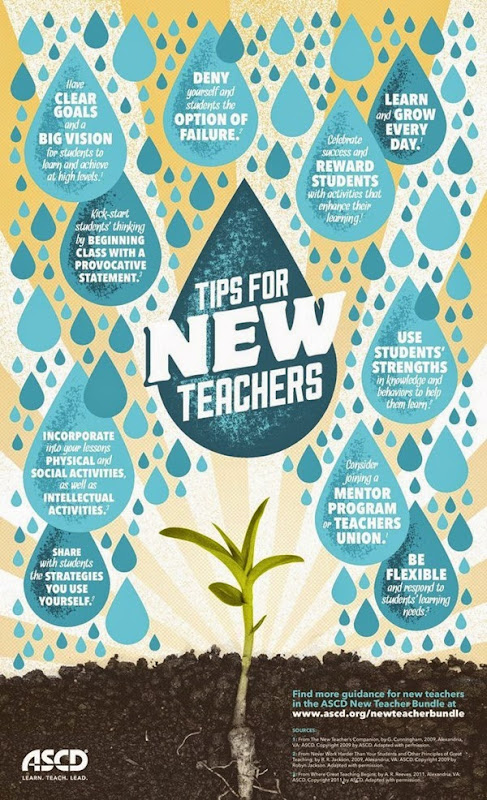affiche conseils nouveaux enseignants