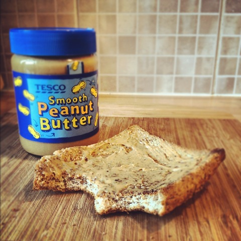#125 - peanut butter on toast