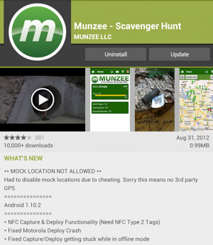 Munzee version 1.10.2
