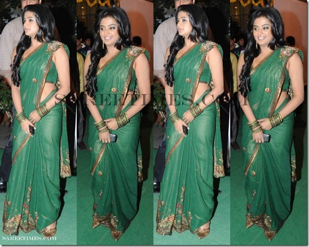 Priyamani_Green_Saree