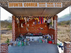 Shrine for some people who died of dehydration that are all over Argentina.