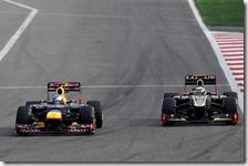 Raikkonen attacca Vettel nel gran premio del Bahrain 2012