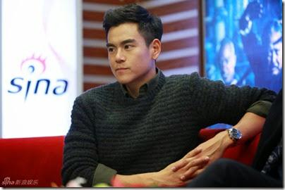 2014.11.18 Eddie Peng during Rise of the Legend - 彭于晏 黃飛鴻之英雄有夢 做客新浪 03