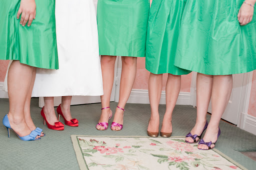 we decided to all wear different colored kate spade heels - here we are showing them off.