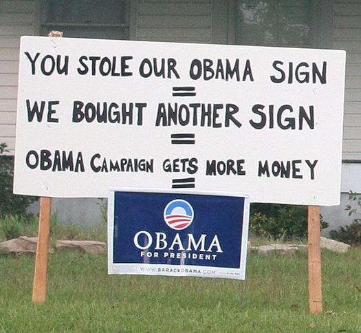Obama sign