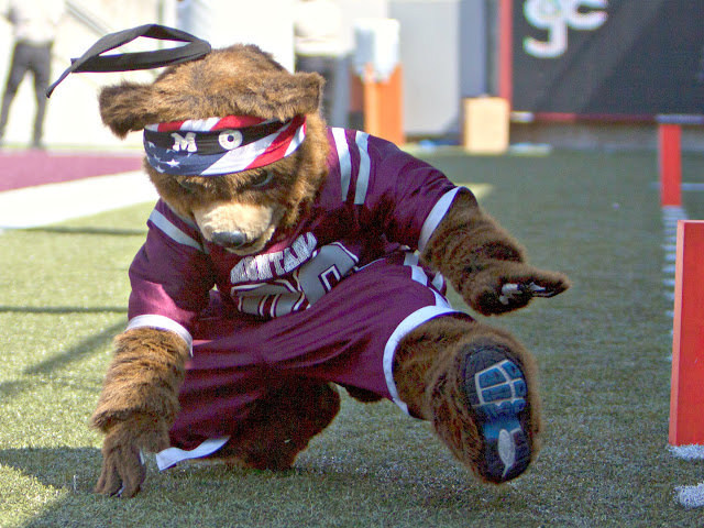 Mo' dancin'.  Washington - Grizzly Stadium, Montana Grizzlies vs. South Dakota Coyotes.  Missoula, MT, September 1st, 2012.