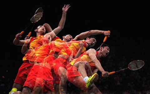 this-multiple-exposure-captures-chinas-biao-chai-during-an-intense-return-during-the-mens-doubles-badminton-quarter-final