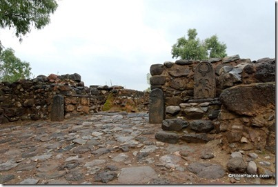 Bethsaida Iron Age gate with stela replica, tb011412618