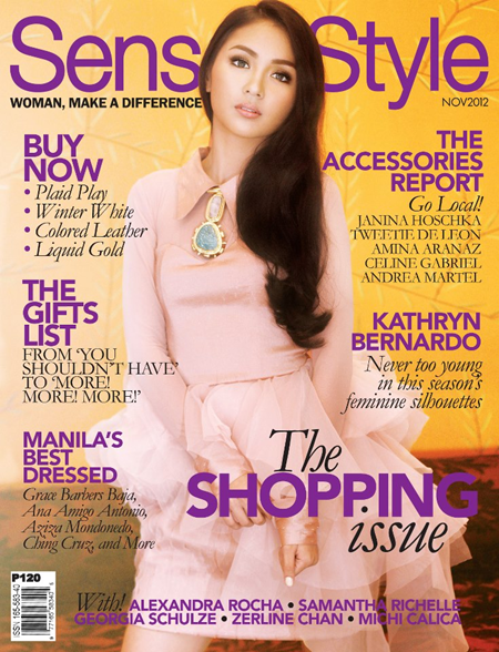 Kathryn Bernardo covers Sense and Style Nov 2012