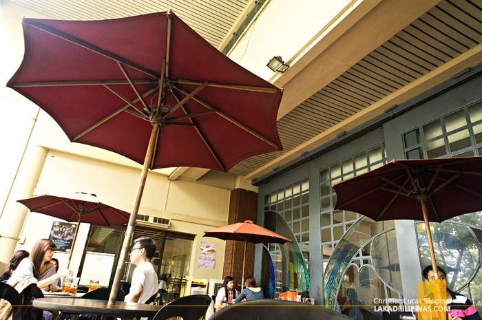 Dining Al Fresco at the The Chocolate Kiss Café