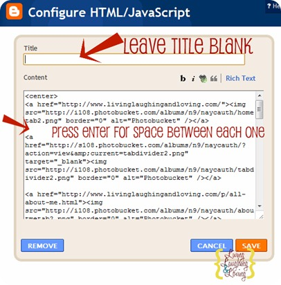 add html to gadget 2