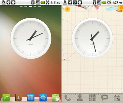 miui-analog-clock-widget
