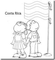 costa rica colorear bandera 1