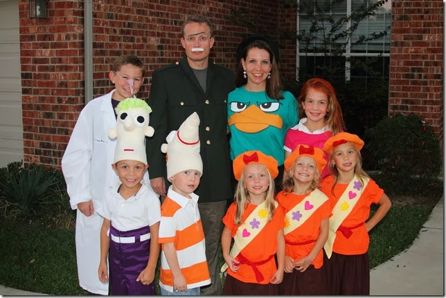 this year we went for a phineas and ferb theme it is from a disney tv show rustin was phineas ryder was ferb kassidy kaydence and kyndall were - Phineas Halloween Costume