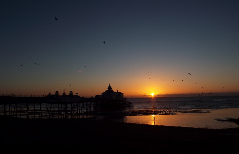 Eastbourne pier at dawn