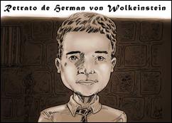 Retrato de Herman von Wolkeinstein sépia