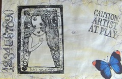 mail art decorated envelope1