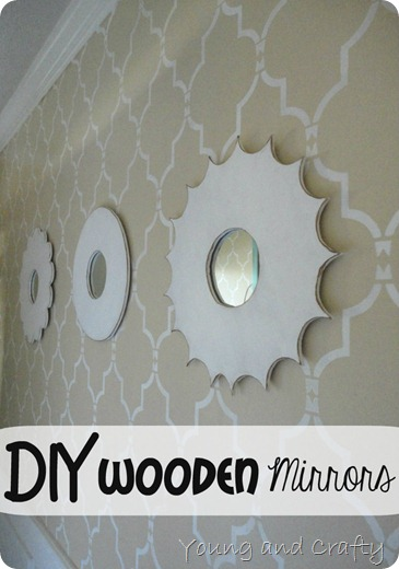 DIY Wooden Mirrors