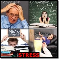 STRESS- 4 Pics 1 Word Answers 3 Letters