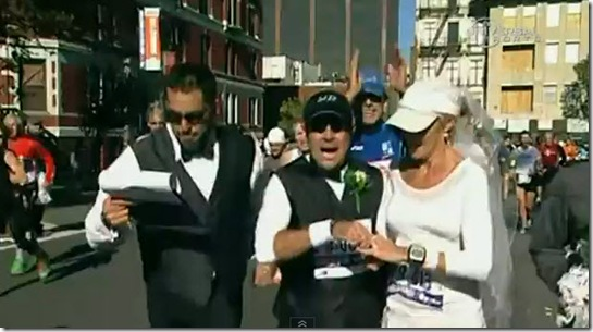 marriage during marathon