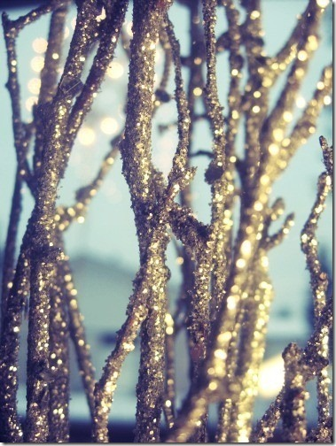 sparkly branches via pinterest