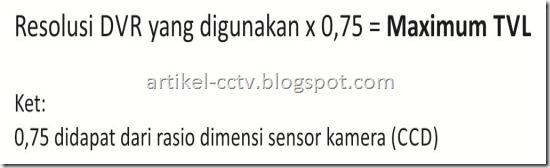 rumus TVL to resolusi DVR