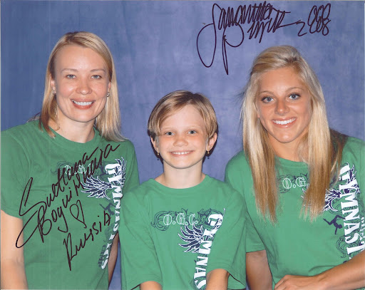Natalie's signed photo of the two olympians - Peszek and svetlana Boginskaya