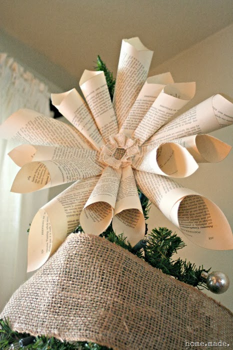 Book Page Tree topper