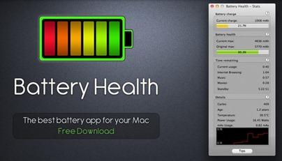 Free MacBook Battery Monitor App