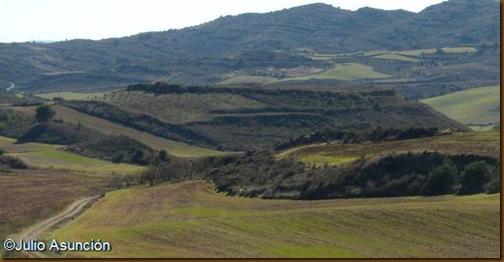 Castro de Gazteluzar desde el norte