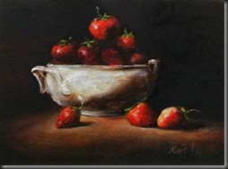 Strawberries in white bowl 2