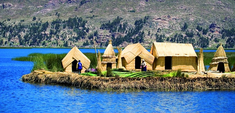 Image result for floating islands of Titicaca Lake