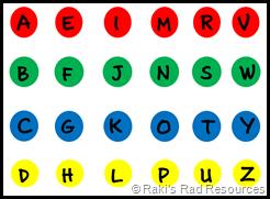twister board letters