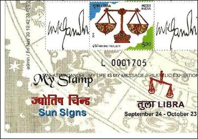 Gandhi My stamp sheetlet-1