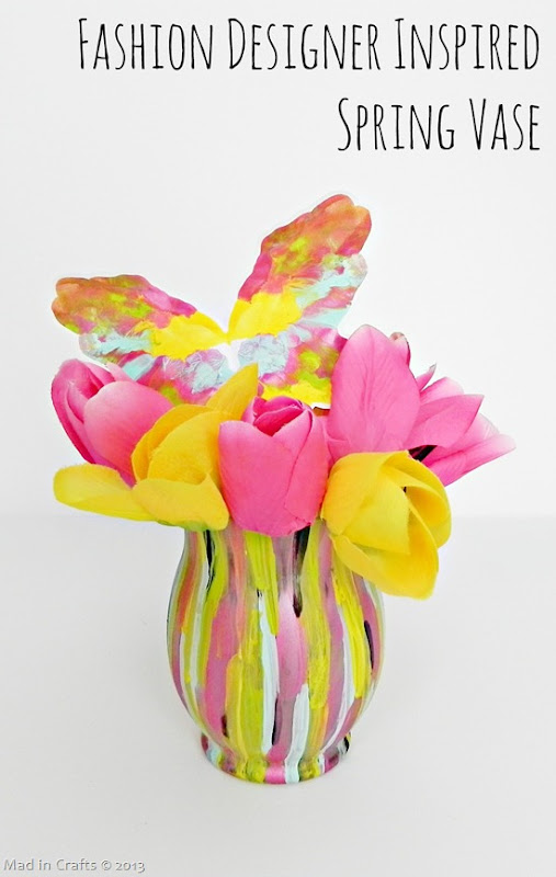 DIY Fashion Designer Inspired Spring Vase