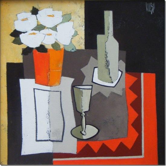 Le vase rougea-Alain-Vilbo-ENKAUSTIKOS