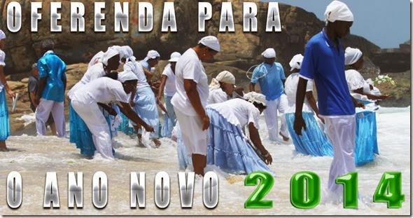 Oferenda na praia no ano novo - Yemanjá