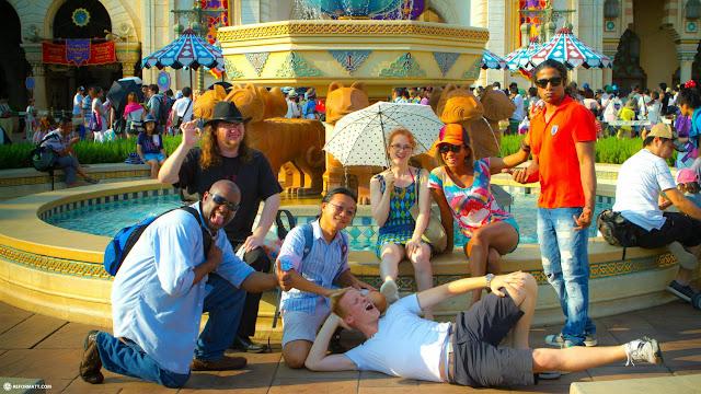 Team Gaijin at Tokyo DisneySea in Japan in Urayasu, Tiba (Chiba) , Japan