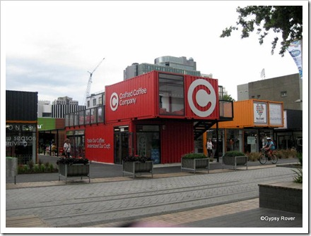 Christchurch's new container shopping centre built after the recent earthquakes.