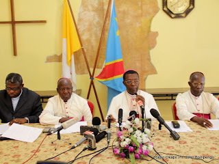 Des vques catholique lors dun point de presse le 4/12/2011  Kinshasa, en rapport avec le droulement des lections de 2011 en RDC. Radio Okapi/ Ph. John Bompengo