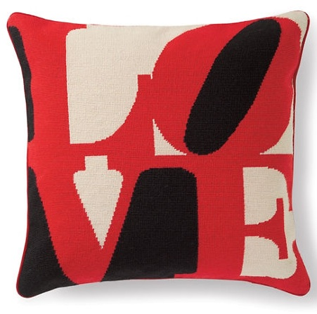 L-O-V-E pillow (gumps.com)