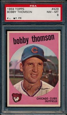1959 Topps 429 Bobby Thomson light